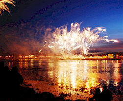 Fireworks display at opening of Wexford Festival Opera